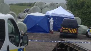 Scene where body remains were found at Yearby
