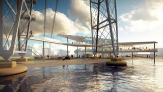 An artist's impression of the bridge once work is complete
