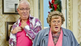Rory Cowan and Brendan O'Carroll in Mrs Brown's Boys