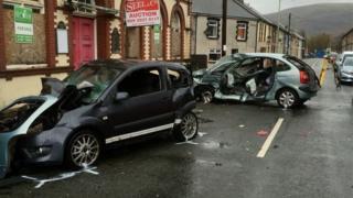 The crash in Trealaw