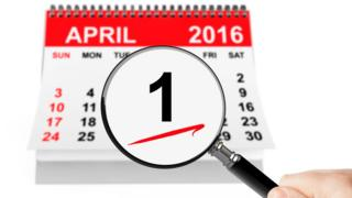 April 1 2016 on calendar