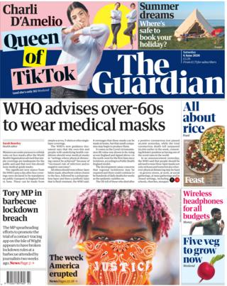 The Guardian front page 6 June