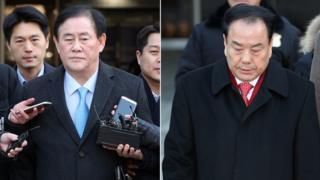 최경환 자유한국당 의원(왼쪽)과 이우현 자유한국당 의원