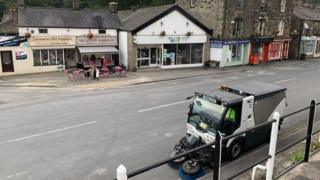 Road sweeper in Whaley Bridge