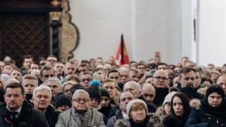 Mayor Pawel Adamowicz's funeral service in Gdansk, Poland, 19 January 2019