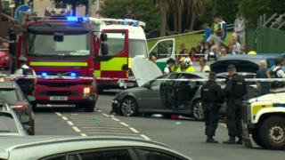 Scene of accident Whiterock Road