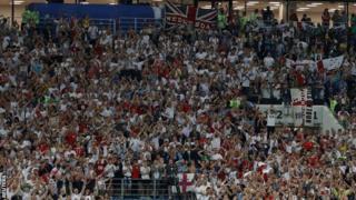 イングランドはモスクワでのクロアチア戦で、多くのファンから声援を受けた