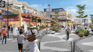 Artist's impression of the proposed new look for Tacoma Square