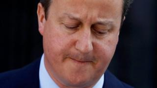 Prime Minister David Cameron announces his decision to resign after Britain voted to leave the European Union, on 24 June