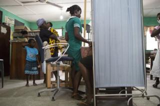 A clinic on the outskirts of Kasoa, Ghana.