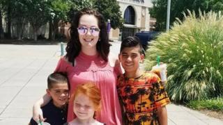 Cierra Brittany Forney with her children