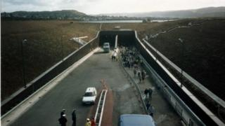 The Conwy Tunnels just after construction but before opening