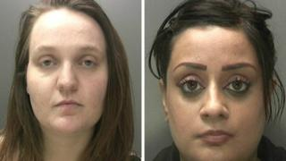 Stacey Candelent and Seleena Hussain