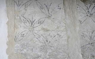 Flower motif uncovered at Lindisfarne Castle