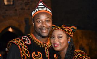 Samuel Awasum and his wife Jacinta Awusa Awasum in Ratingen , Germany - Monday 12 Septembe 2016