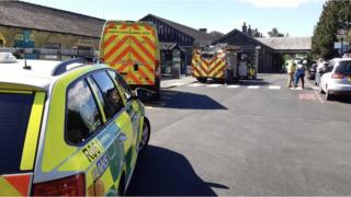 Emergency services at Windermere Station