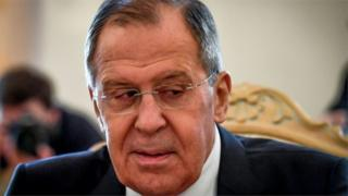 Russian Foreign Minister Sergei Lavrov, 13 April 2018