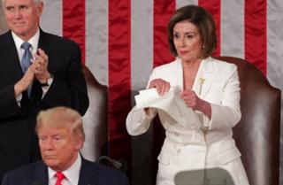 in_pictures Nancy Pelosi tears up a speech