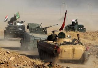Иракские войска близ Мосула