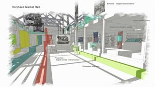 Plans for the restored Holyhead market hall