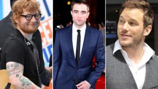 Ed Sheeran, Robert Pattinson y Chris Pratt