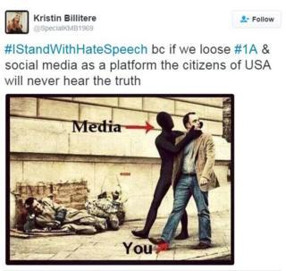 Tweet suggesting mainstream media is censoring the news.