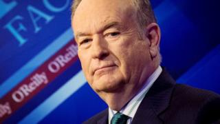 """News Channel host Bill O""""Reilly poses on the set of his show """"The O""""Reilly Factor"""" in New York March 17, 2015."""