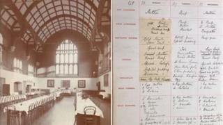 New Hall, Girton and menu page