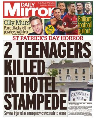 Daily Mirror front page