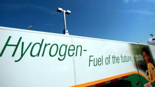 Anuncio de combustible de hidrógeno el 13 de agosto de 2008 en Nueva Jersey, EE.UU.