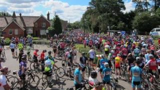 Cyclists held up at Pyrford