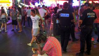 Clubbers in Magaluf, 19 Jul 15