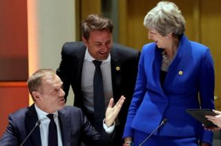Theresa May at EU summit