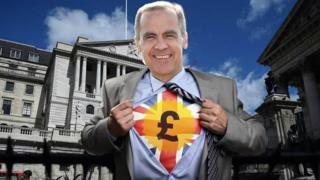 Mark Carney mock-up with him opening his shirt