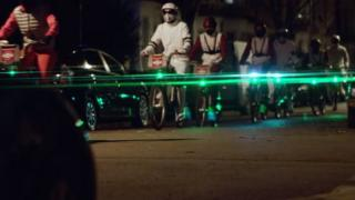 Blaze laser lights from the film