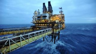 BP oil platform in the North Sea