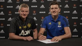 Harry Maguire signs for Manchester United.
