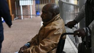 Pascal Simbikangwa, ce mardi 25 octobre 2016, aux assises de Bobigny, en France