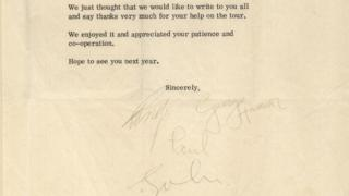 Letter signed by all four Beatles