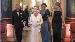 Prince Charles, the Queen, Baroness Scotland, Theresa May