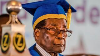 President Mugabe at graduation ceremony - 17 November