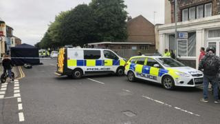 Crime scene in Great Yarmouth