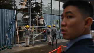 香港立法会大楼的修复工作