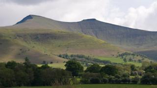 Pen y Fan is the highest peak in south Wales at 2,907ft (886m)