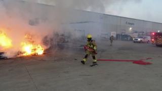 Пожар на фабрике