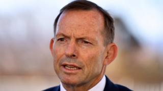 Former Prime Minister Tony Abbott speaks at a press conference at Parliament House in Canberra, Australian Capital Territory, Australia, 04 September 20