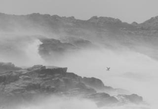 storm Diana passing Ardnamurchan Lighthouse