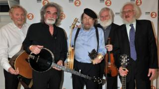 Eamonn Campbell (far right) with other members of the Dubliners