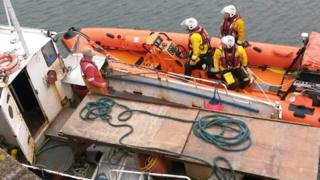 Fishing boat rescue