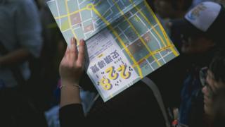 一名学生参加了2016年举办的,228事发相关地点的导览团。